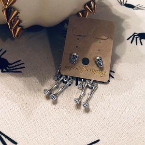 NWT Skeleton earrings